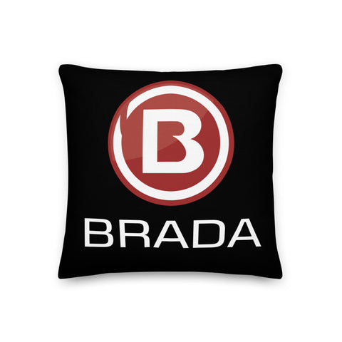 Brada - Black / Red Premium Pillow