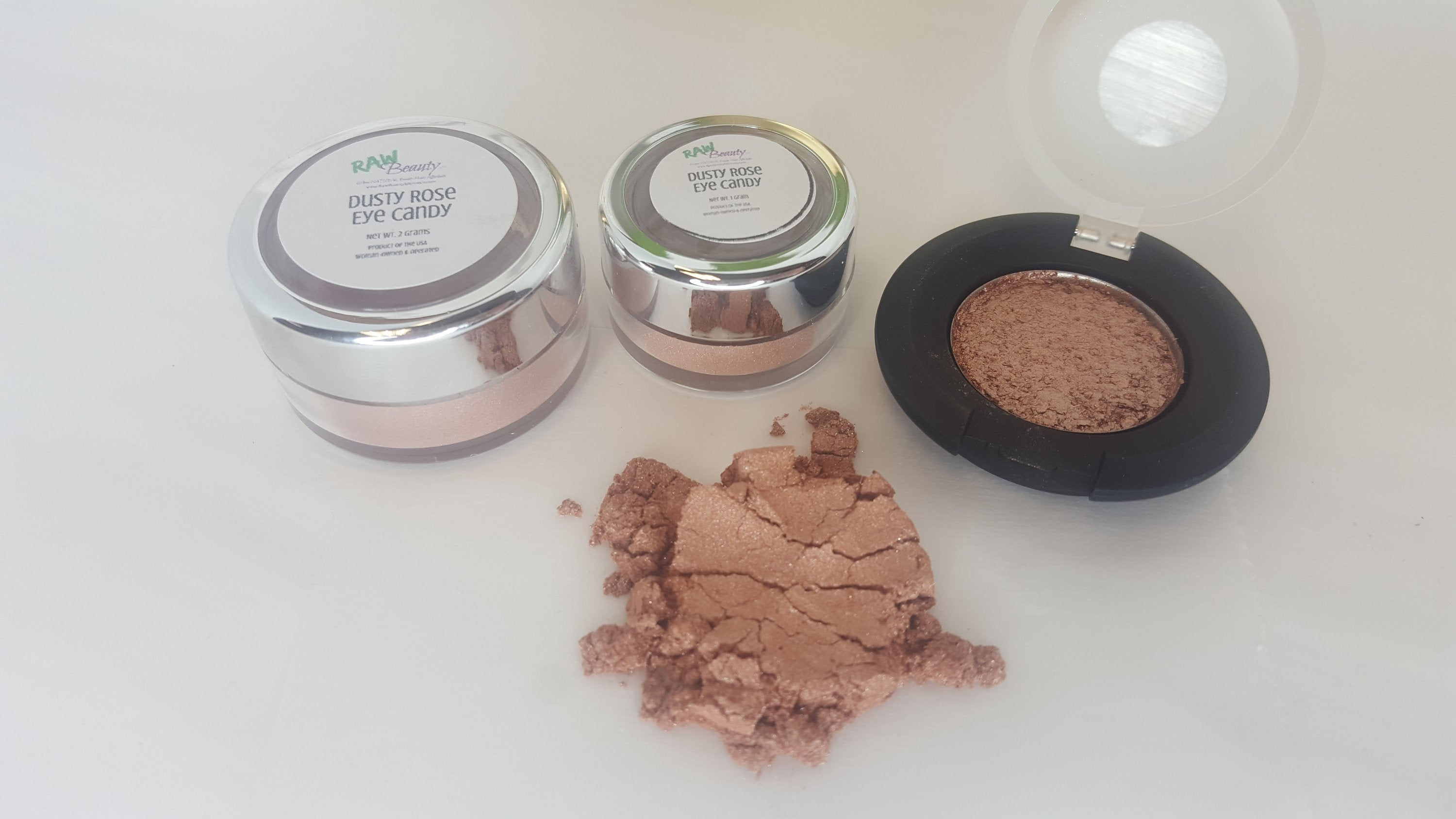 Mineral Eye Makeup | Dusty Rose | Raw Beauty Minerals