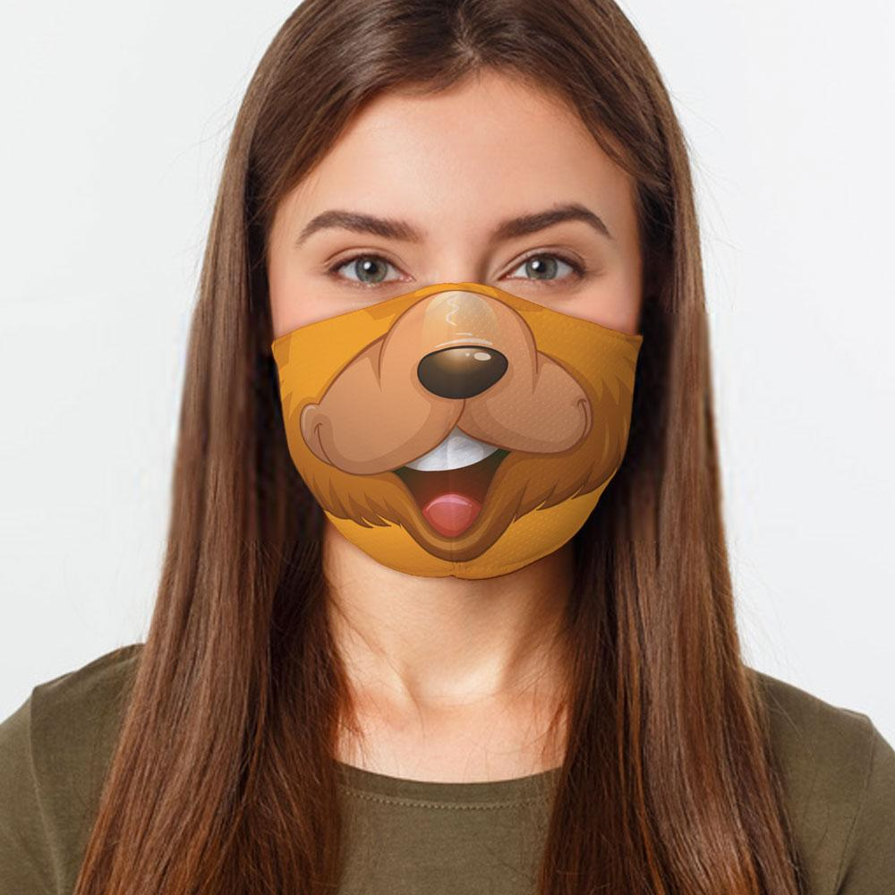 Brown Bear Face Cover