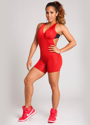 Red and Black One Piece