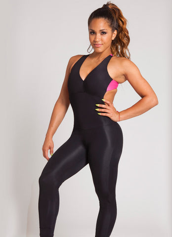 Long Black and Pink One Piece