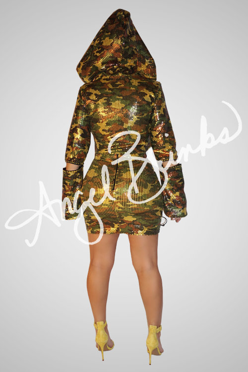 Camoflage Hooded Set