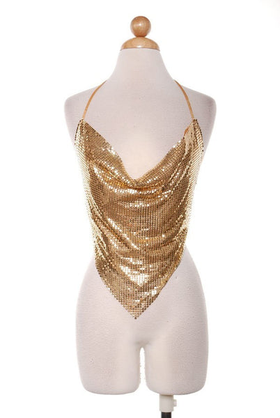 Disco Kendall Top Available in Gold and Silver )