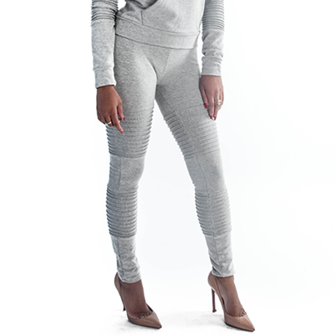 Grey Moto Leggings