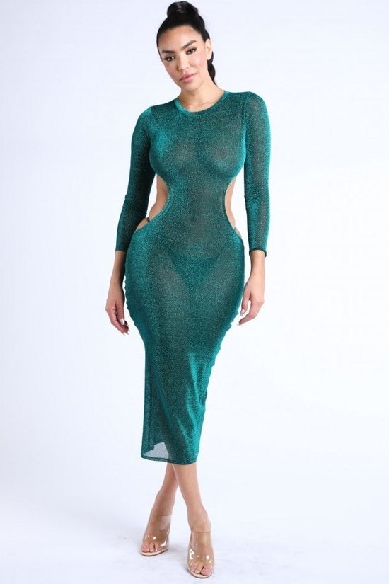 Shimmery Green Dress