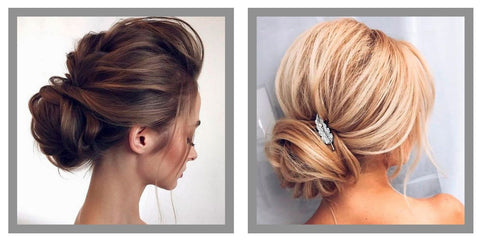 Faux chignon blond
