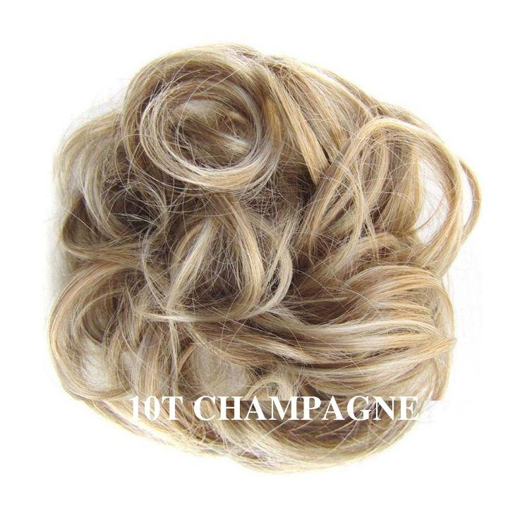 Chouchou faux cheveux blond champagne- Frossia