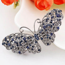 Charger l'image dans la galerie, Barrette Cheveux Papillon Strass freeshipping - Frossia