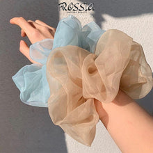 Bild in Galerie hochladen, Silk scrunchie | Transparente Scrunchie