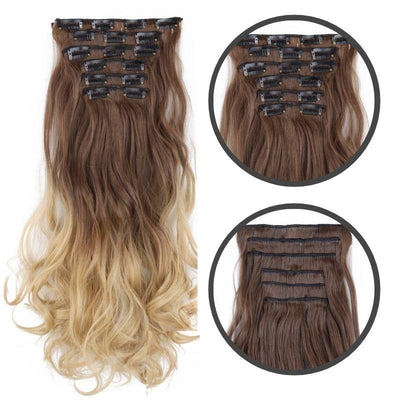 Extension a clip cheveux boucles