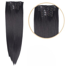 Laden Sie das Bild in die Galerie, Black Hair Extension With Clips