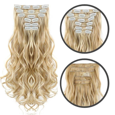 Extension cheveux boucles blond