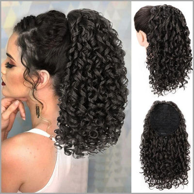 Postiche queue de cheval curly