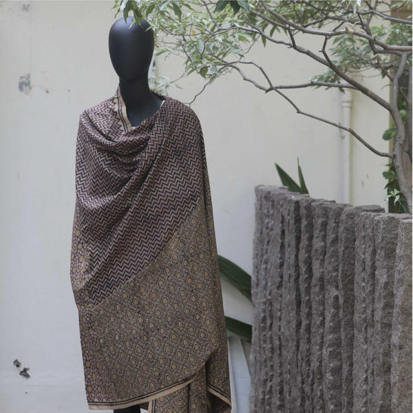 ERI NATURAL DYE HAND BLOCK PRINTED - SCARVES AND SHAWLS removed