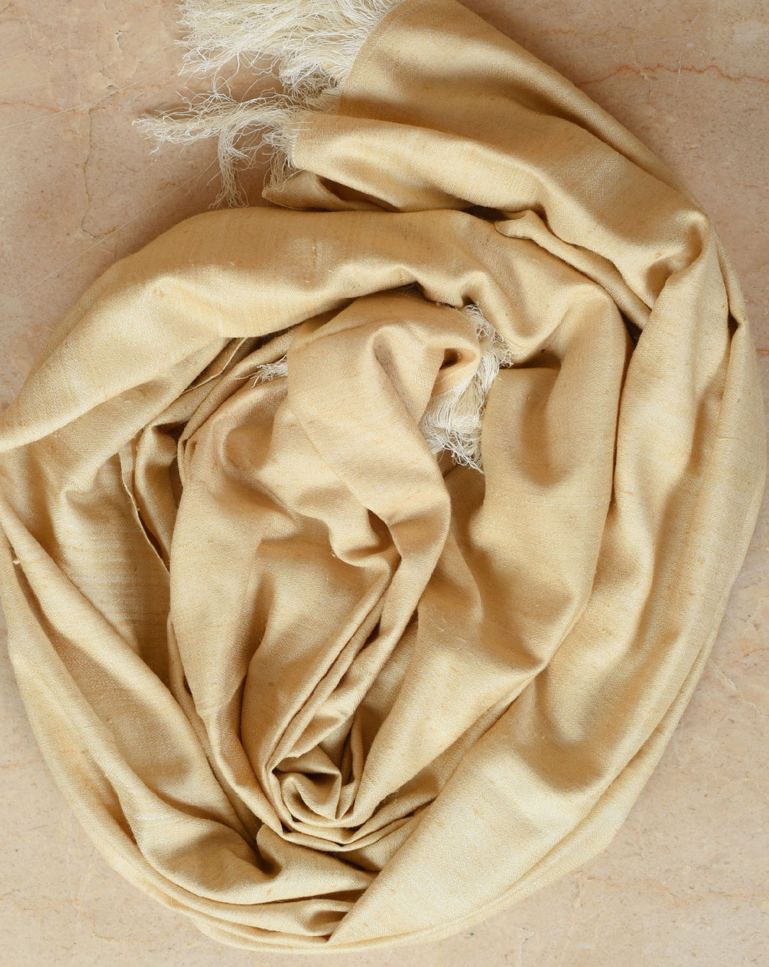 Ereena Eri Silk Godo Shawl- Sunset Yellow ACJVO-04