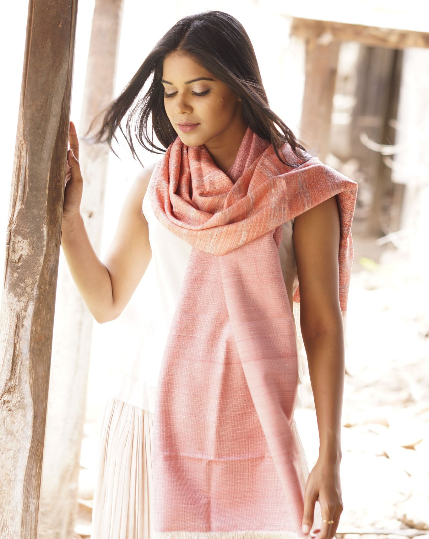 Godo Shawl- Rose Quartz ACJVO-05