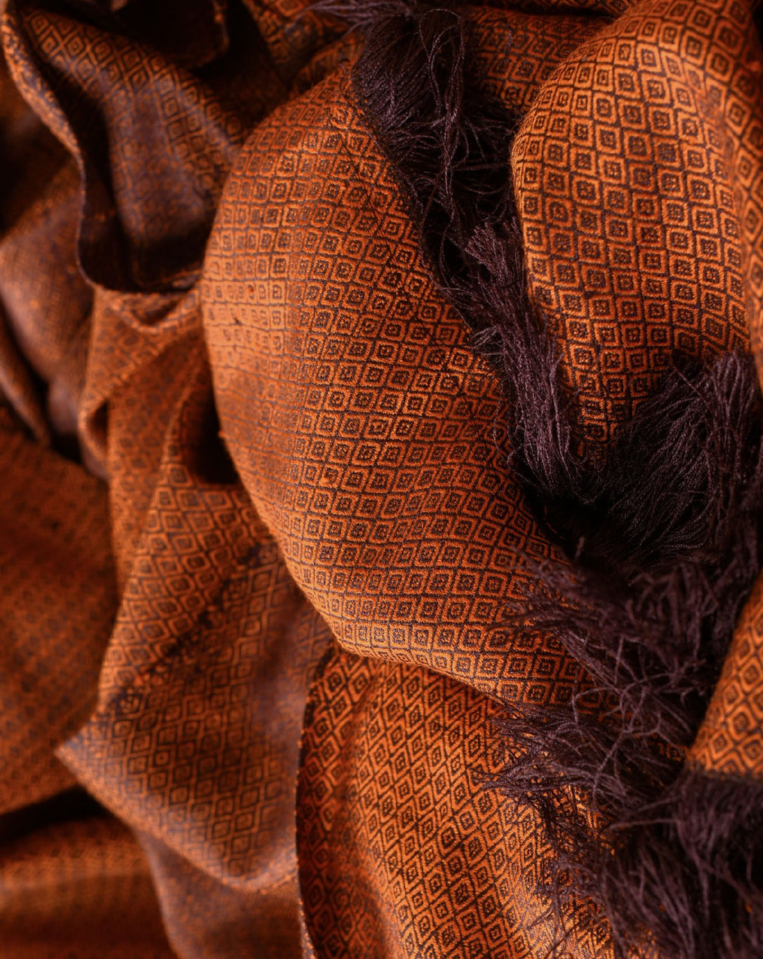 Ereena Eri Silk Godo Shawl- Autumn Maple ACJVO-08