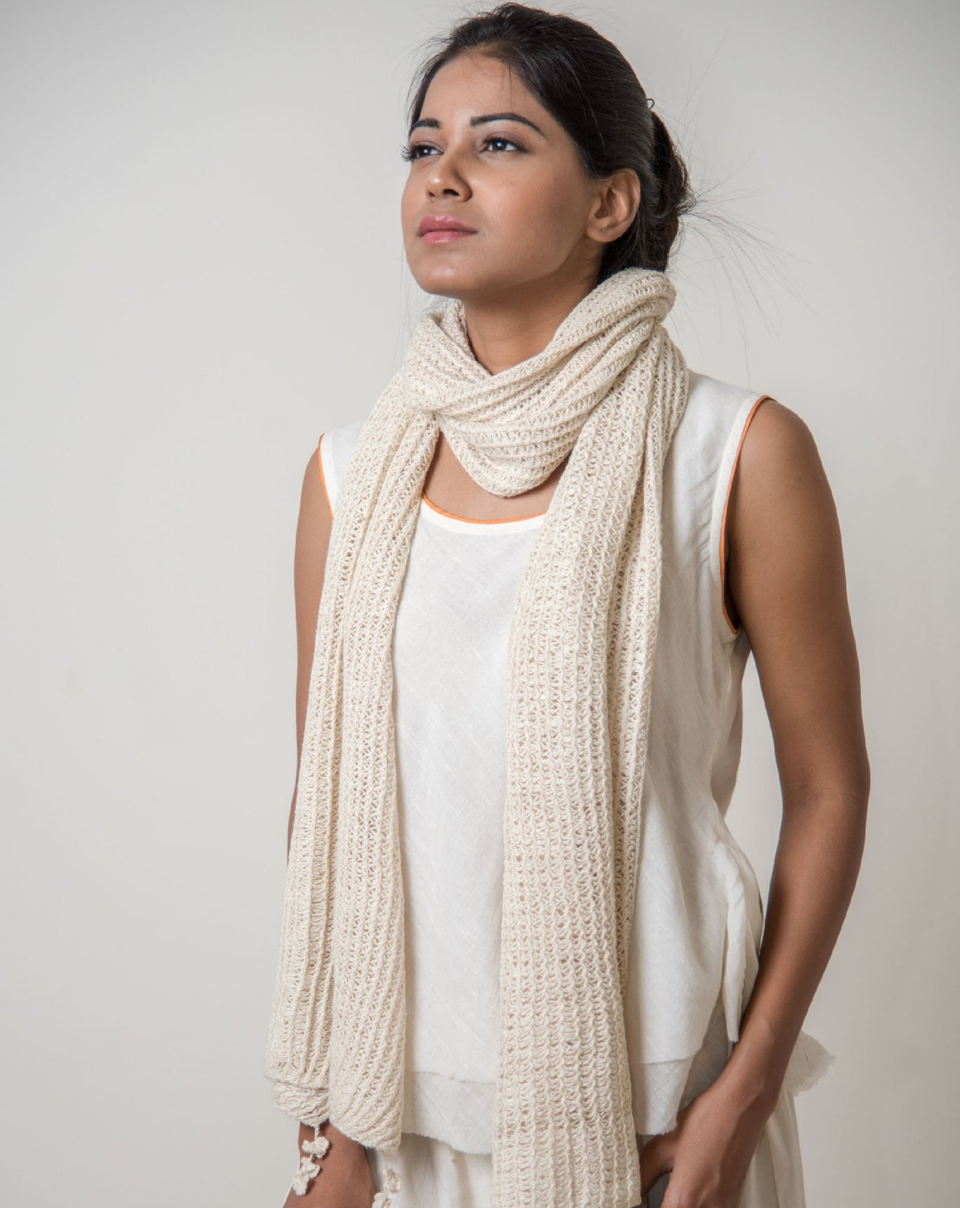 Ereena Knit Lines and Loops Stole EFPAN -08A