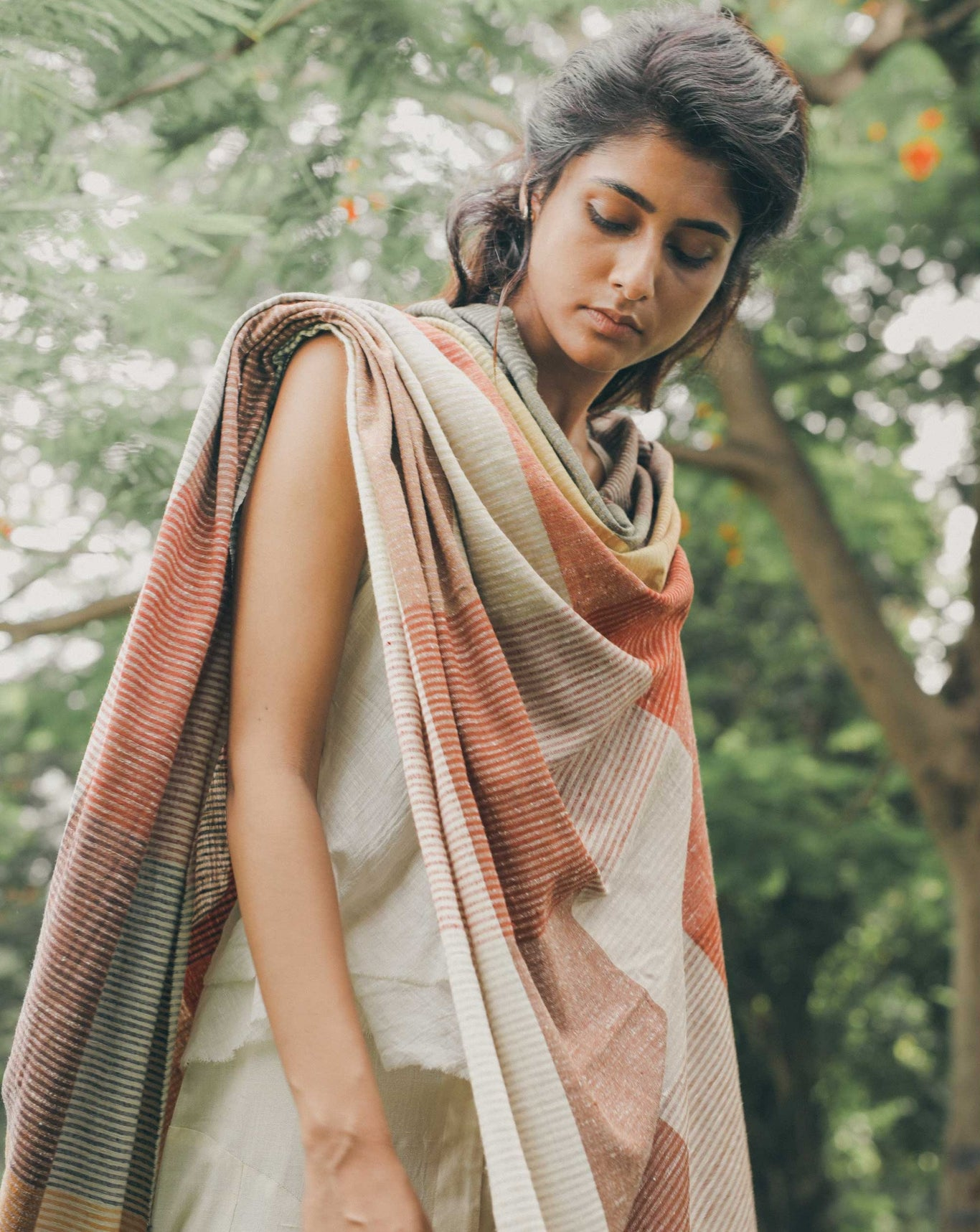 Ereena Eri Silk Natural Dye Shawl– EXDN54-PLAINT-C