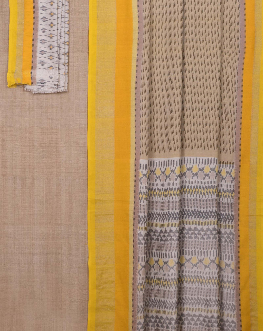 Ereena Grey - Gold Brush Stroke Ikat  EFPZV-298