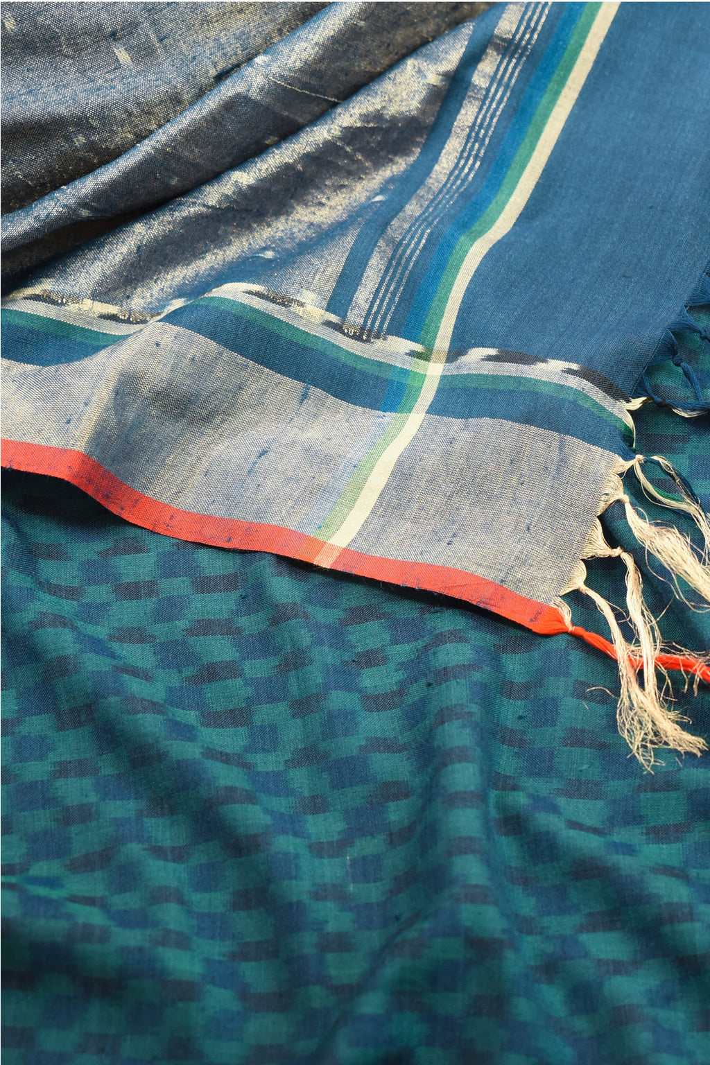 Ereena - Blue Ikat Tonal Checks EFPZV-135L