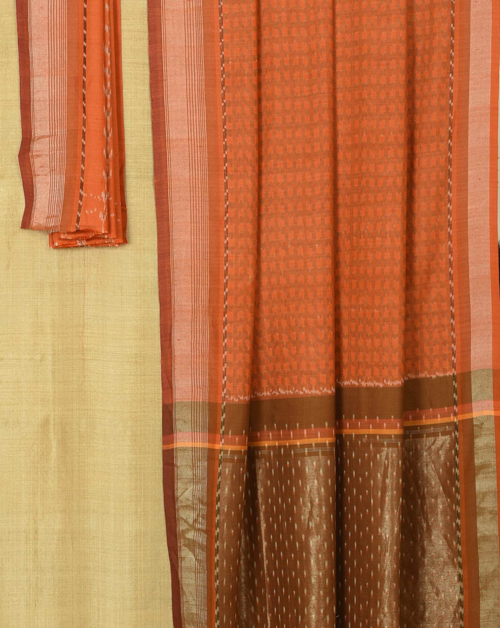 Ereena - Orange Ikat Tonal Checks EFPZV-135N