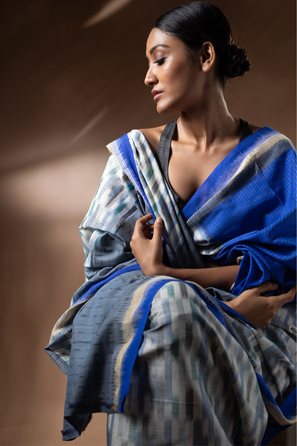 Ereena Ikat Brush Stroke Saree EFPZS-432