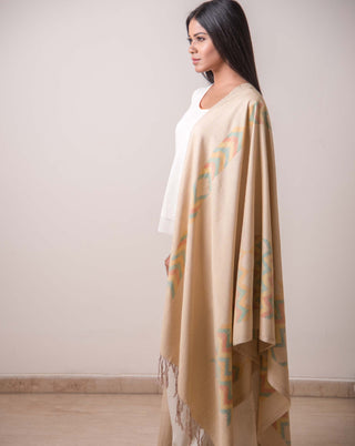 Ereena Ikat Chitiki  - Ikat Earth, Water, Fire Shawl EFPZSTV-016
