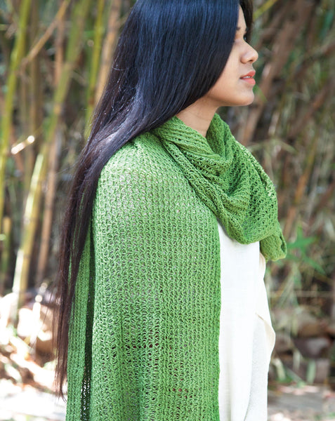 Ereena green dream catcher stole