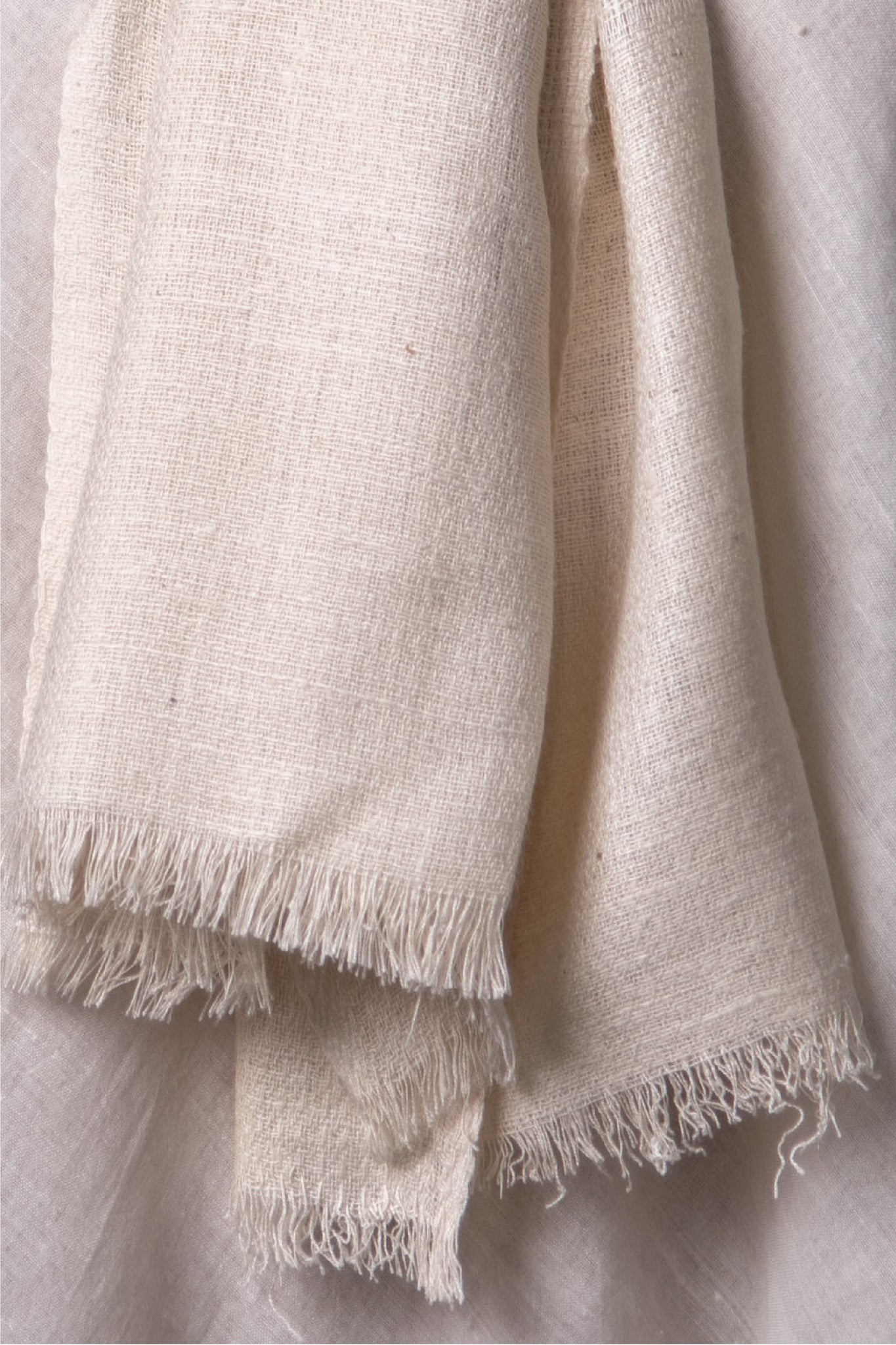 Ereena Butter & Cream Eri Rich Stole cotton-eri-assam-y