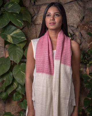 Ereena Rose & Milk Eri Rich Stole cotton-eri-assam-p