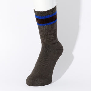 CHICSTOCKS / HEALTH KNIT LINE SOCKS(C.GRAY ×D.BROWN )