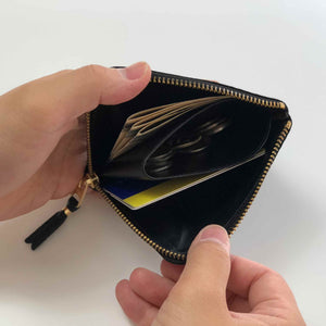 CdG Wallet / LUXURY LEATHER COIN CASE(BLACK)