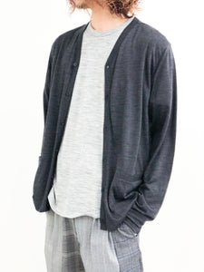 icebreaker / M COOL-LITE CARDIGAN (BLACK HEATHER)