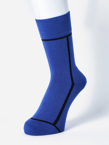 CHICSTOCKS /  LINE SOCKS(BLUE×BLACK)