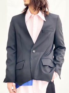 Sulvam / No collar jacket (BLACK)