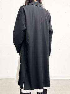 Sulvam / Classic over coat (BLACK)
