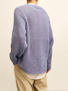 URU / CREW NECK OVER KNIT (SAX)