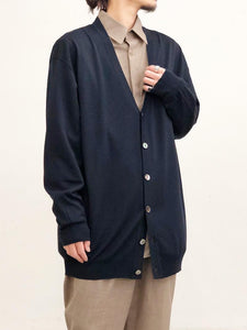 URU / OVER CARDIGAN(NAVY)