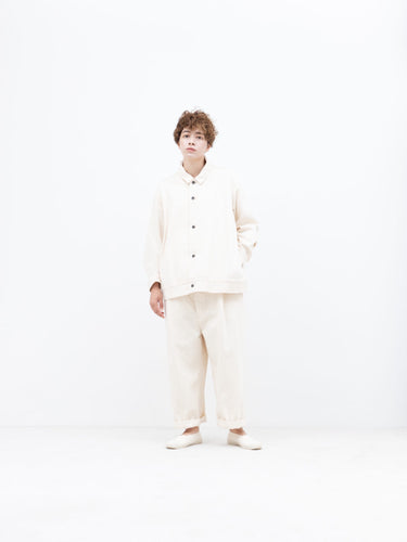 FIRMUM / GARMENT WASHED BLOUSON (NATURAL)