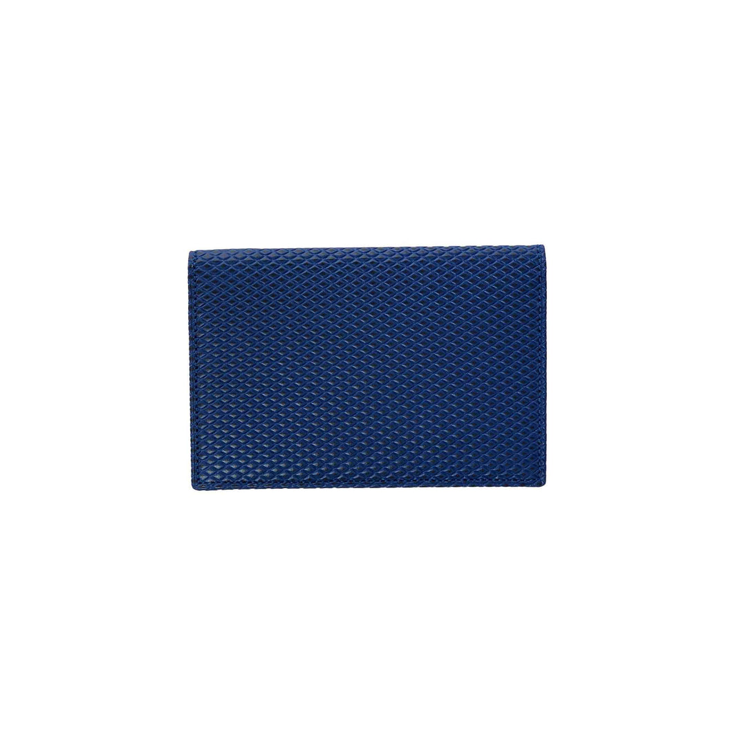CdG Wallet / LUXURY LEATHER CARD CASE(BLUE)