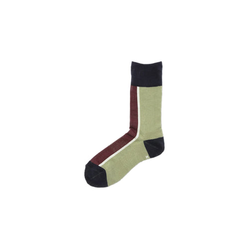CHICSTOCKS / CENTER LINE SOCKS(BAMBOO × NAVY)