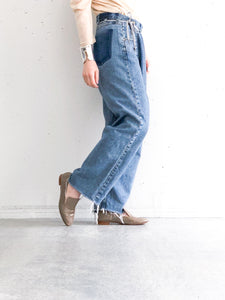 MAISON EUREKA / VINTAGE REWORK BIGGY PANTS (BLUE) #EUPT08