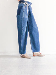 MAISON EUREKA / VINTAGE REWORK BIGGY PANTS (BLUE) #EUPT05