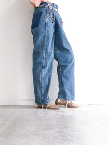 MAISON EUREKA / VINTAGE REWORK BIGGY PANTS (BLUE) #EUPT13