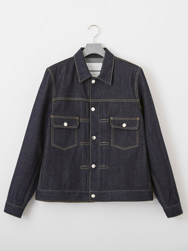 FUMITO GANRYU / Back tucked denim jacket (INDIGO)