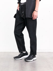 FUMITO GANRYU / 5 POCKET KURTA PANTS (BLACK)