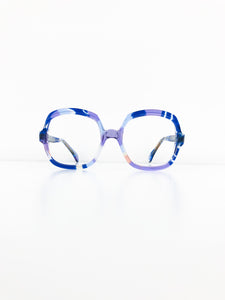 FRENCH VINTAGE / Clear glasses (BLUE) #FV06