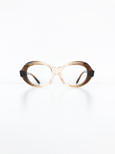 FRENCH VINTAGE / Clear glasses (BROWN) #FV24