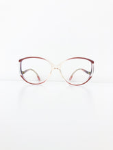 FRENCH VINTAGE / Clear glasses (PURPLE PINK) #FV33